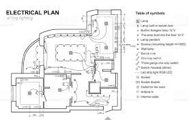 architectural electrical symbols for floor plans plan wiring lighting electrical schematic interior set of standard