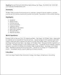 customer service representative bank teller resume sle resume sle for bank teller krida info