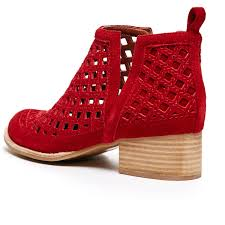 jeffrey campbell u0027taggart u0027 red bootie cut out bootie ashbury skies