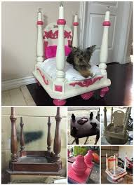 end table dog bed diy how to turn old end table into wood pet bed diy repurpose