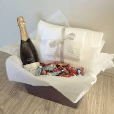 engagement gift basket custom engagement bridal hers hers by