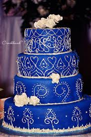 royal blue and silver wedding the royal blue silver wedding cake paperblog