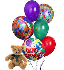 balloons and teddy bears birthday balloons 6 mixed balloons a