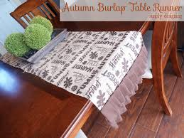 autumn harvest table linens autumn harvest burlap table runner turkeytablescapes