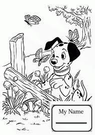 cruella de vil and polecat cartoons coloring pages for kids