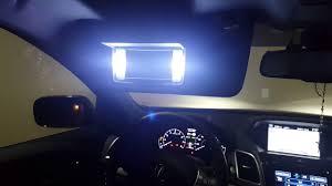 lexus nx200t vs acura rdx 2016 upgraded led vanity mirror light vs oem light 2016 acura rdx youtube