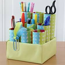 toilet paper roll desk organizer recycled desk caddy this idea is simply adorable and green too