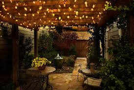 String Lighting For Patio String Lights Patio Create A Backyard Cafe The Kienandsweet