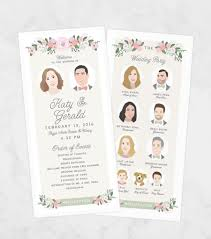 unique wedding programs unique wedding program printable program ceremony program