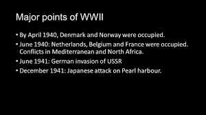 the second world war ppt video online download