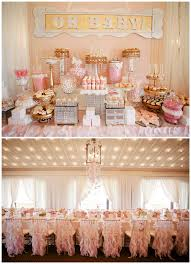 impressive decoration pink and gold baby shower decorations