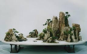 penzai chinese bonsai potted landscape