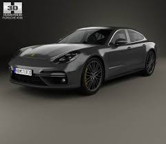 Porsche Panamera All White - porsche panamera turbo 2017 3d model hum3d