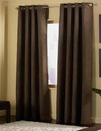 Grommet Window Curtains 2 Panels Grommet Solid Micro Suede Curtain Window Covering Panel