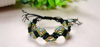 macrame bead bracelet images How to make adjustable macram beaded bracelets with nylon thread jpg