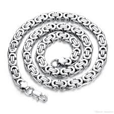 style silver necklace images Gold silver tone stainless steel necklace byzantine box mens boys jpg