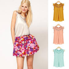 sleeveless blouses 2017 summer sleeveless blouses blusas chiffon o neck