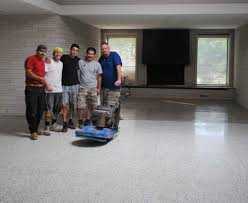 mike and lindsey restore and refinish their terrazzo flooring