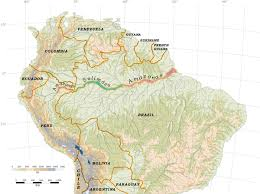 Amazon River World Map by The Main Stem Amazon Waters