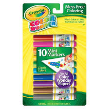 crayola color wonder mini markers 10ct classic target