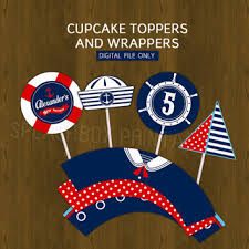 nautical cake toppers best nautical baby shower cupcake toppers products on wanelo