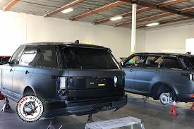 white wrapped range rover matte black range rover car wrap wrap bullys