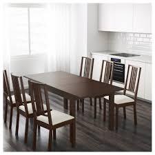 bjursta extendable table brown black ikea