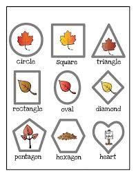 leaf themed shapes funnycrafts