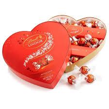 valentines day chocolate lindt lindor truffles box milk heart 5 7