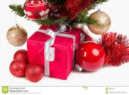 present box and decoration royalty free stock