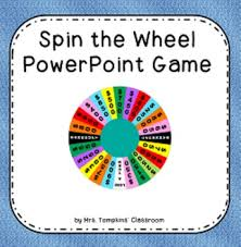 spin the wheel game wheel of fortune inspired powerpoint game