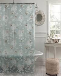 Clear Vinyl Shower Curtains Designs Seafoam Shells Peva Shower Curtain Curtainshop