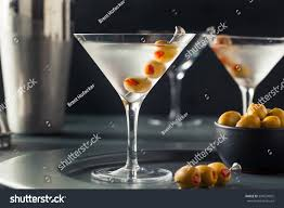 martini gibson classic shaken dry vodka martini olives stock photo 399524002