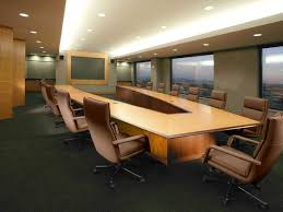 Interactive Meeting Table U Shape Conference Table Design