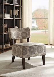 Orson Chair Homelegance Orson Accent Chair Grey Medallion Fabric 1191f6s