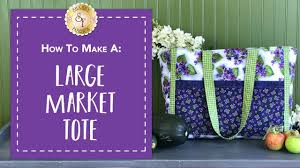 how to make a large market tote with jennifer bosworth of shabby