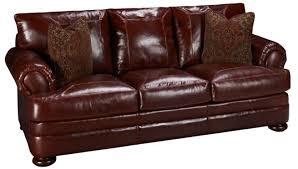 Leathercraft Sofas Klaussner Montezuma Leather Sofa Jordan U0027s Furniture