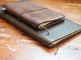 Traveler 39 s notebook passport size brown leather