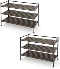 seville classics 3 tier utility shoe rack espresso slickdeals net