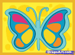 learn how to draw a simple butterfly butterflies animals free