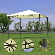 For Living Gazebo Cover by 10 U0027 X 10 U0027 Garden Square Gazebo Canopy Tent Shelter Awning