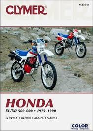 honda xl500 xr500 xl600 xr600 manual service repair owners