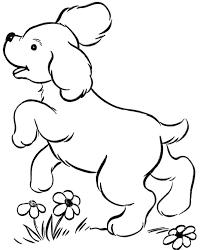 belajar mewarnai gambar binatang untuk anak anjing yang lucu dan