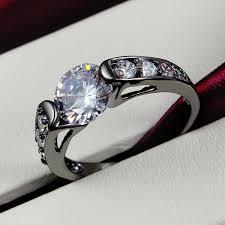 black gold engagement ring yinhed unique black gold filled wedding band ring 2 carat cz