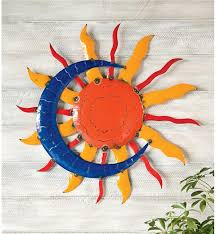 sun moon and garden decorations wind weather