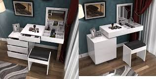 white contemporary dressing table white modern dressing table design with many storage spaces the