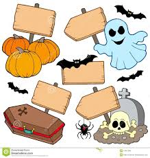 halloween wooden signs collection royalty free stock image image