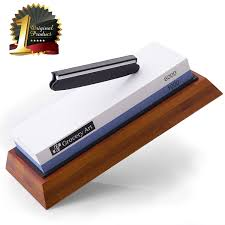sharpening kitchen knives with a stone amazon com whetstone knife sharpening stone waterstone knife