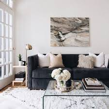 black livingroom furniture elements of a cozy morning a big grey couches white