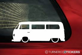 subaru window decals 2x low car outline stickers for volkswagen t2 transporter camper